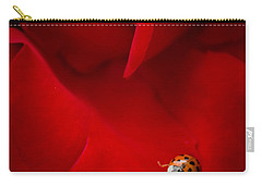 Ladybird In Rose Carry-all Pouch