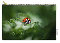 Ladybug On The Move Carry-all Pouch by Jordan Blackstone