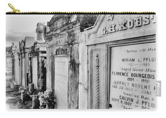 Lafayette Cemetery Black And White Carry-all Pouch