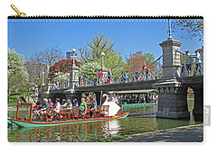 Lagoon Bridge And Swan Boat Carry-all Pouch