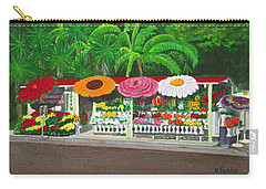 Laguna Beach Flower Stand Carry-all Pouch by Mike Robles