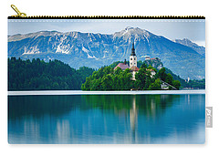 Lake Bled Island Church Carry-all Pouch