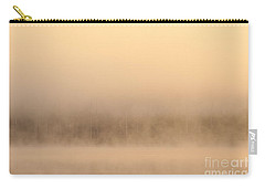 Lake Cassidy With Fog And Trees Along Shoreline Shrouded In Fog Carry-all Pouch