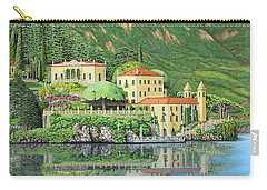 Carry-all Pouch featuring the painting Lake Como Morning by Jane Girardot