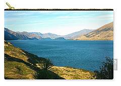 Carry-all Pouch featuring the photograph Lake Hawea by Stuart Litoff
