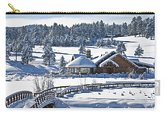 Lake House In Snow Carry-all Pouch