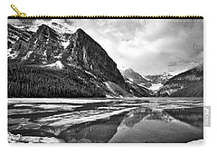 Lake Louise - Black And White #3 Carry-all Pouch