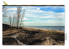 Carry-all Pouch featuring the photograph Lake Michigan Shoreline by Lauren Radke