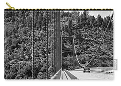 Lake Oroville Bridge Black And White Carry-all Pouch
