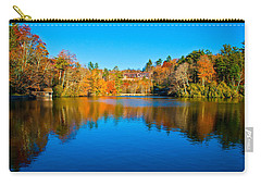 Carry-all Pouch featuring the photograph Lake Reflections by Alex Grichenko
