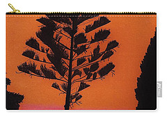 Carry-all Pouch featuring the drawing Lake Sunset by D Hackett