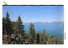 Carry-all Pouch featuring the photograph Lake Tahoe Through The Trees by Jayne Wilson