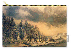Carry-all Pouch featuring the painting Lake Tahoe Winter Colors 2 by Donna Tucker