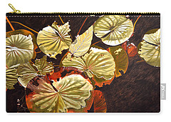 Lake Washington Lily Pad 11 Carry-all Pouch by Thu Nguyen
