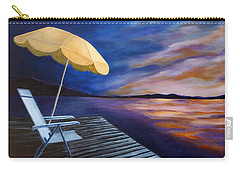 Carry-all Pouch featuring the painting Lakeside Sunset by Michelle Joseph-Long