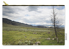 Carry-all Pouch featuring the photograph Lamar Valley No. 1 by Belinda Greb