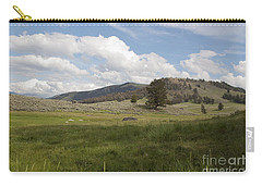 Carry-all Pouch featuring the photograph Lamar Valley No. 2 by Belinda Greb