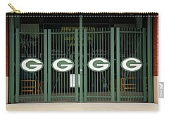 Lambeau Field - Green Bay Packers Carry-all Pouch by Frank Romeo