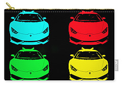 Lambo Pop Art Carry-all Pouch by J Anthony