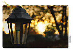 Carry-all Pouch featuring the photograph Lamplight by Photographic Arts And Design Studio