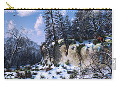 Land Of The Red Fox Carry-all Pouch by Ken Morris