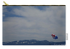 Carry-all Pouch featuring the photograph Parasail Landing by Bobbee Rickard