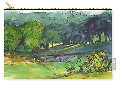 Landscape Lakeway Texas Watercolor Painting By Kmcelwaine Carry-all Pouch