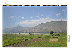 Carry-all Pouch featuring the photograph Landscape Of Mountains Sky And Fields Swat Valley Pakistan by Imran Ahmed