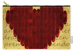 Languages Of Love Carry-all Pouch by Michelle Calkins