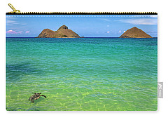 Lanikai Beach Sea Turtle Carry-all Pouch