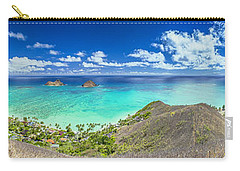 Lanikai Bellows And Waimanalo Beaches Panorama Carry-all Pouch