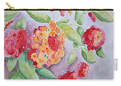 Carry-all Pouch featuring the painting Lantana by Marilyn Zalatan