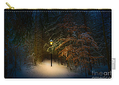 Carry-all Pouch featuring the photograph Lantern In The Wood by Michael Arend