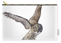 Lapland Owl On White Carry-all Pouch by Mircea Costina Photography