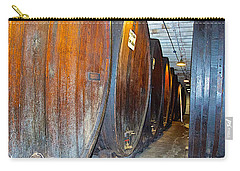 Large Barrels At Korbel Winery In Russian River Valley-ca Carry-all Pouch
