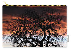Large Cottonwood At Sunset Carry-all Pouch