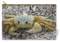 Carry-all Pouch featuring the photograph Ghost Crab by Cynthia Guinn