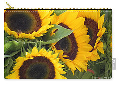 Carry-all Pouch featuring the photograph Large Sunflowers by Chrisann Ellis