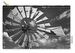 Large Windmill In Black And White Carry-all Pouch