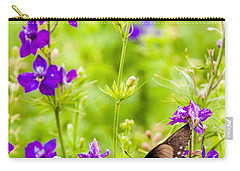 Larkspur Visitor Carry-all Pouch by Melinda Ledsome