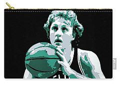 Larry Bird Poster Art Carry-all Pouch by Florian Rodarte