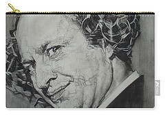 Larry Fine Of The Three Stooges - Where's Your Dignity? Carry-all Pouch by Sean Connolly