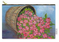 Carry-all Pouch featuring the painting Last Flowers Of Summer by Sharon Schultz