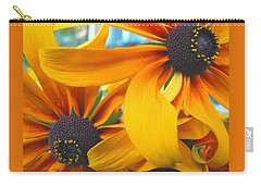 Last Holdouts Of The Season - Black Eyed Susans - Floral Photography Carry-all Pouch