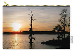 Carry-all Pouch featuring the photograph Last Sunset Of 2012 by Victor Montgomery