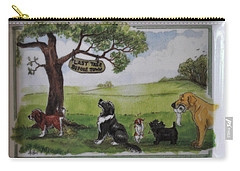 Last Tree Dogs Waiting In Line Carry-all Pouch by Jay Milo