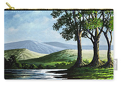 Carry-all Pouch featuring the painting Late Afternoon by Anthony Mwangi