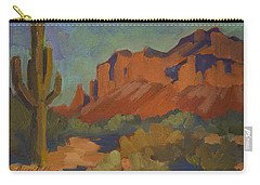 Late Afternoon Light At Superstition Mountain Carry-all Pouch by Diane McClary
