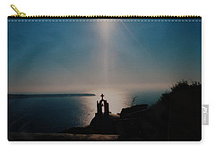 Late Evening Meditation On Santorini Island Greece Carry-all Pouch