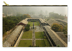 Carry-all Pouch featuring the photograph Late Morning Fog At The Great Wall  by Lucinda Walter